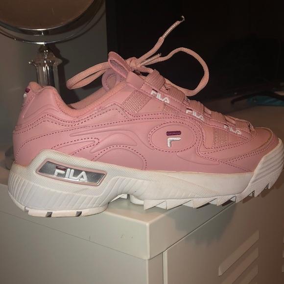 Fila Shoes   Pink Chunky Filas   Poshmark